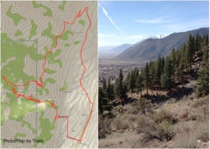 Click for a larger map and the view from Eagle Ridge Loop trail
