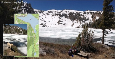 Emigrant Lake and link to map