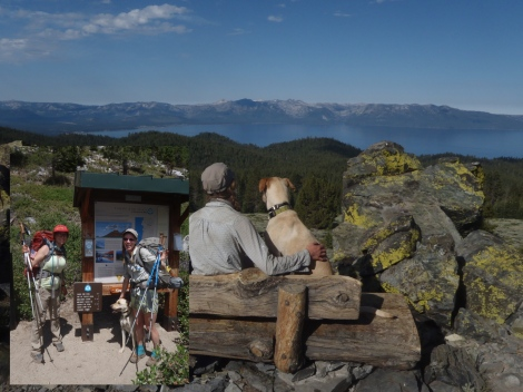 Enjoying our last TRT panoramic view of Lake Tahoe and we made it!!
