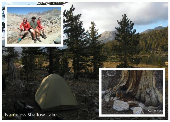 Trail friends, Nameless shallow lake, marmot