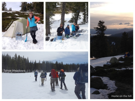 Tahoe Rim Trail - snow backpacking