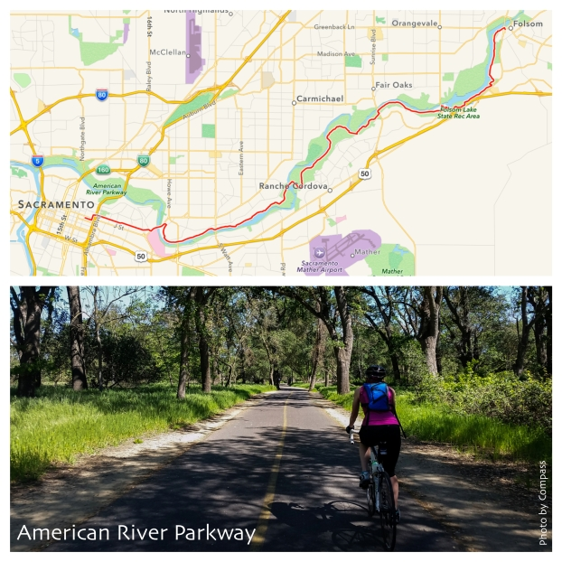 American River Parkway Map and Bike Photo