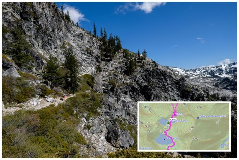 New Caribou Lakes Trail  and map