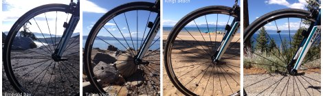 Through the spokes around the lake
