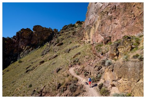 Climbing up to Misery Ridge
