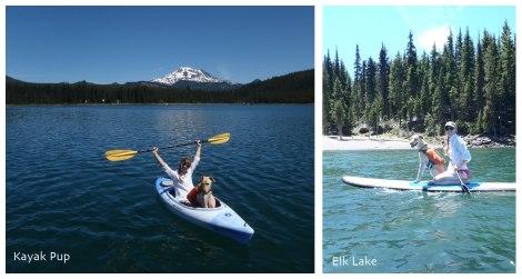 Kayak and SUP on Elk Lake