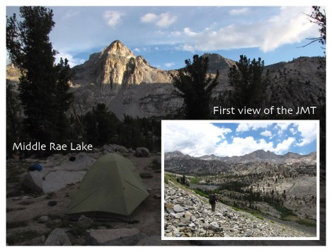Middle Rae Lake and decent to JMT