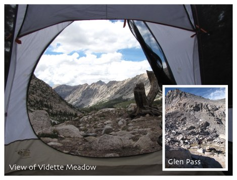 Glen Pass and Vidette Meadow view