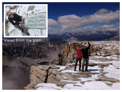 It's official - atop Mount Whitney, we've completed the JMT