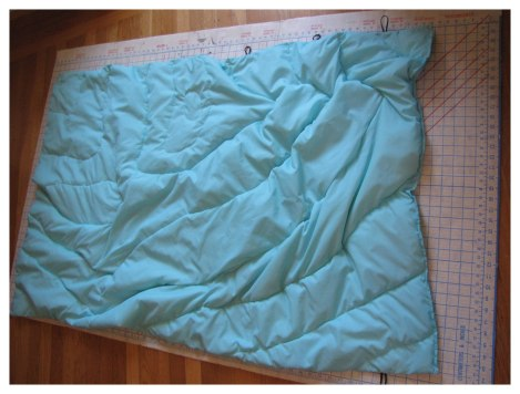 Try to follow quilting pattern