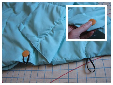 Sew on buttons