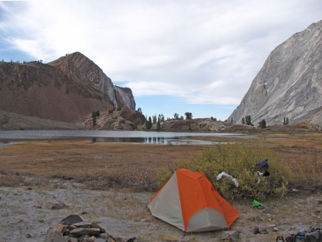 Campsite at Mildred Lake