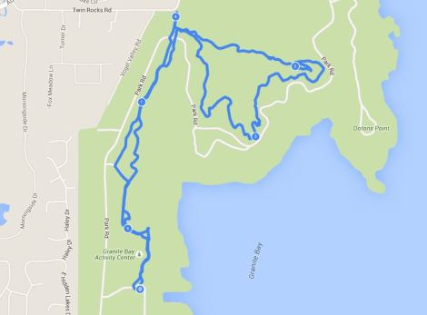Granite Bay ride mapped on Endomondo