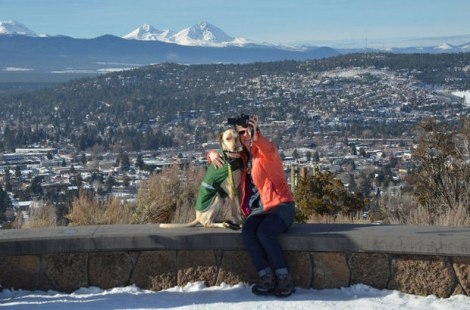 Selfie on Pilot Butte - photo by Terry Richard