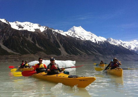 Kayaking the Tasman Glacier Lake. Photo by our awesome guide!