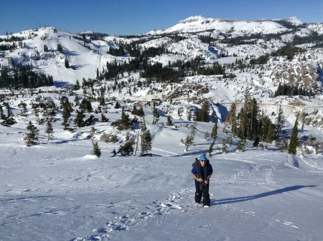 The view toward Donner Ski Ranch.
