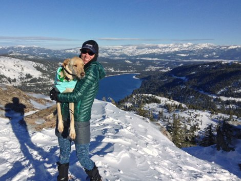 The view from the top - looking toward Donner Lake and Truckee.
