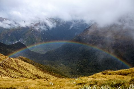 If we can't have a view of mountain tops, I'll take a rainbow view! Photo by Compass