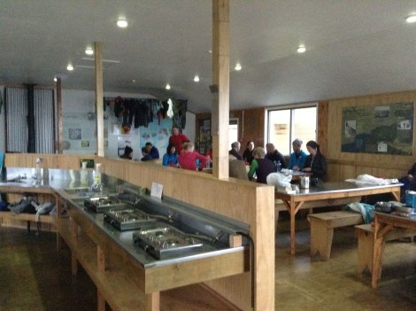 Apologies for the poor image quality, but here's the common area of Luxmore Hut.