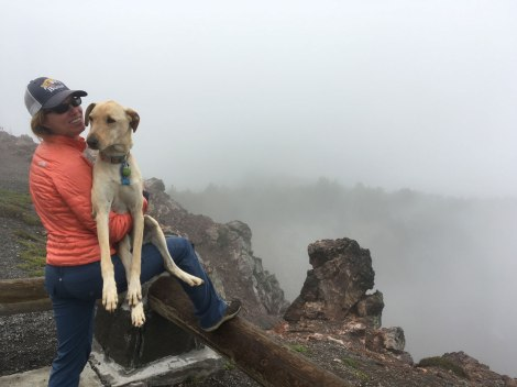 In the clouds on Paulina Peak