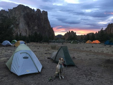 Sunset over the Smith Rock campground